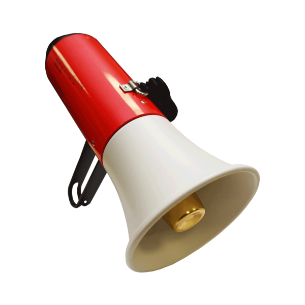Megaphone accessories side view